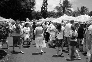 Farmer market in Koloa, Poipu, Kauai, Hawaii:  Monday morning noon.