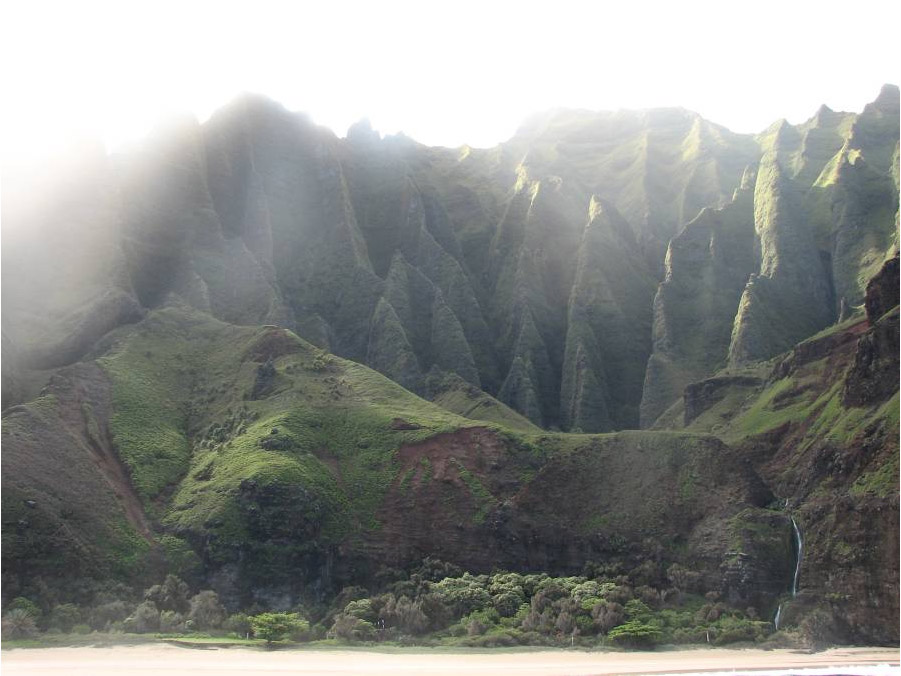 Na Pali cliff north shore of Kauai