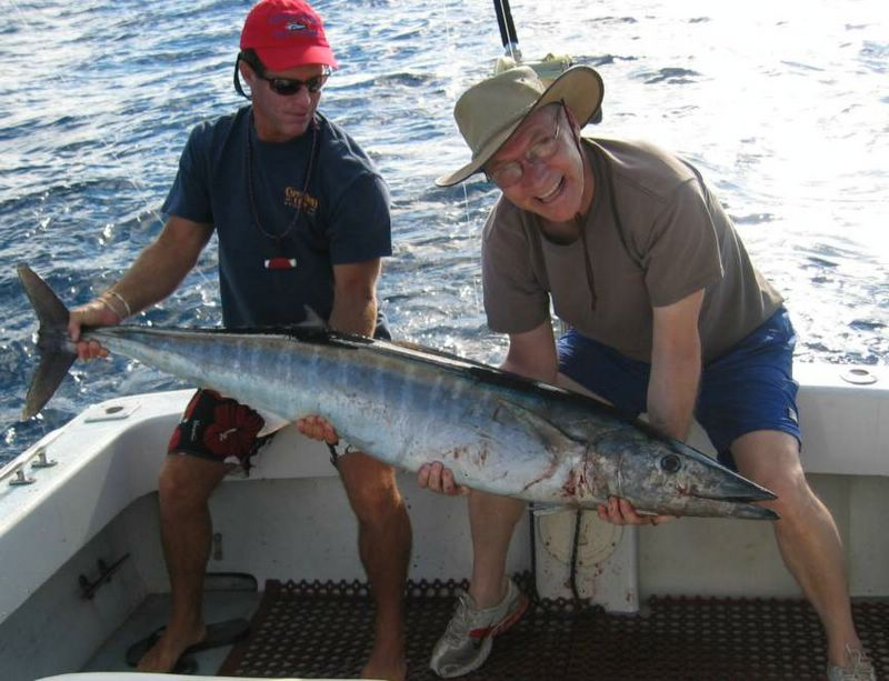 52 Lb Wahoo, Captain Don's boat record :  Bird of Paradise Home Guest,  Bird of Paradise Poipu Kauai Vacation Rentals Home in Poipu Kai Resort, Kauai, Hawaii