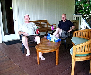 Great time at the lanai, Bird of Paradise Poipu Kauai Vacation Rental Home in Poipu Kai Resort, Poipu Beach, Kauai, Hawaii