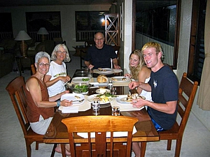 Dinner at Bird of Paradise house,  Bird of Paradise Poipu Kauai Vacation Rentals Home in Poipu Kai Resort, Poipu Beach, Kauai, Hawaii