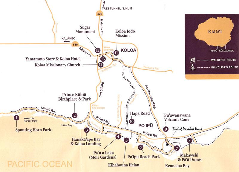 Koloa Heritage Trail Map Kauai Hawaii Dreaming Pinterest Maps And