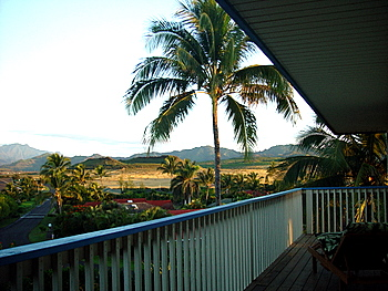 Our vacation rental home at lanai during morning time.