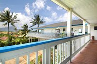 L shape lanai maximize views for Poipu vacation rental home