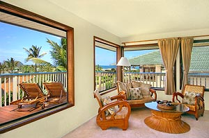 Specious Living area at Kauai vacation rental home
