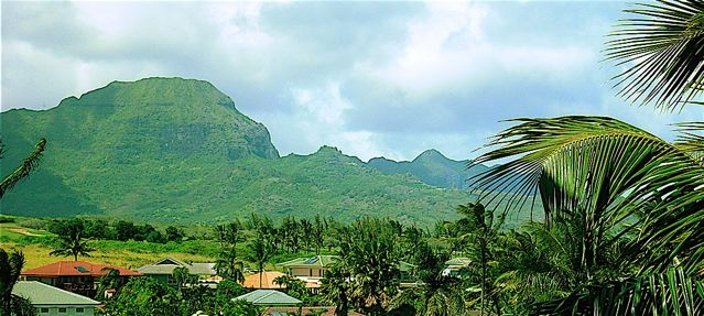 Majestic Mountain View from Bird of Paradise Poipu Vacation Rental 's living room