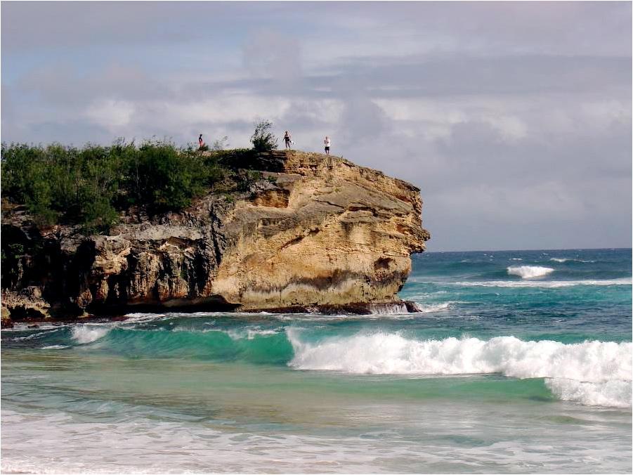 Shipwreck Beach Hyatt Hotel Poipu Kauai Hawaii